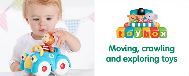 Toybox Moving, crawling and exploring toys