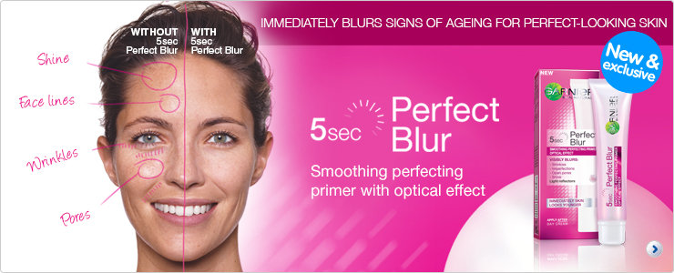 New and Exclusive Garnier Perfect Blur