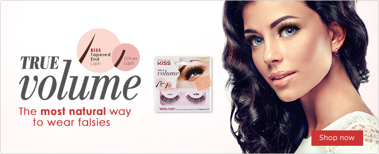 KISS True Volume Lashes. This most natural way to wear falsies