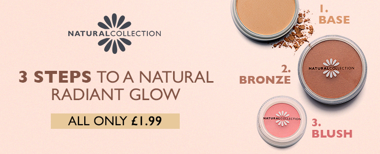 Three steps to a natural radiant glow with natural collection