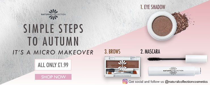 Three steps to autumn with Natural Collection. Brows, Eyeshadow and Mascara
