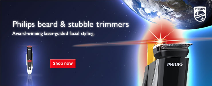 Philips beard and stubble trimmers. Award winning laser guided facial styling