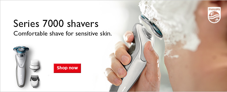 Philips Series 7000 Shavers. Comfortable shave for sensitive skin