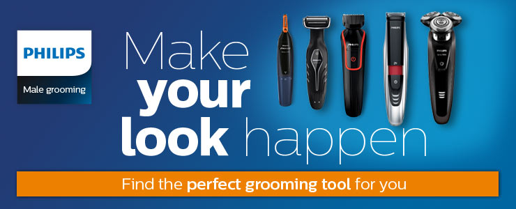 Philips male grooming make your look happen. Find the perfect grooming tool for you