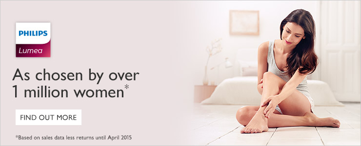 Philips Lumea as chosen by over 1 million women