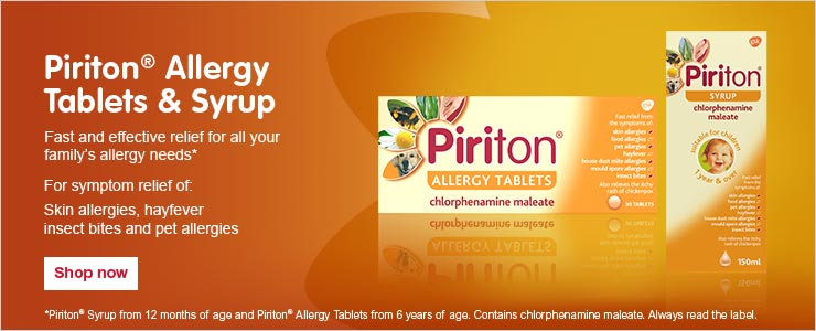 Piriton allergy tablets and syrup