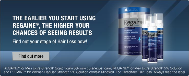 The earlier you start using Regaine, the higher your chances of seeing results