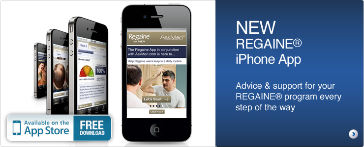 Regaine iPhone app