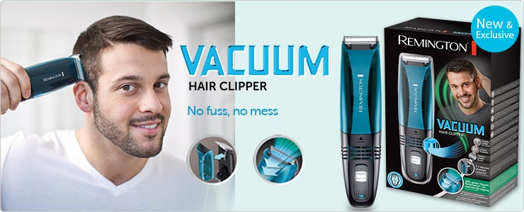 Remington vacuum hair clipper. New and exclusive to Boots
