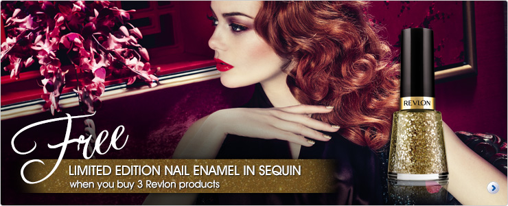 Free limited edition nail varnish gift when you buy 3 or more Revlon