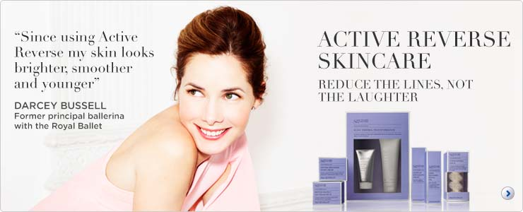 Sanctuary active reverse skin care. Reduce the lines, not the laughter