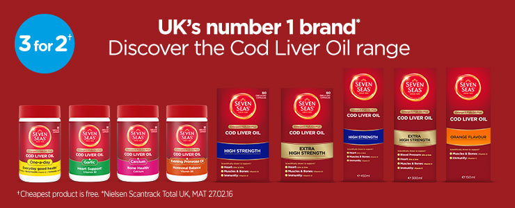 Cod Liver Oil, Seven seas. Capsules. Liquid. Traditional.Extra High Strength.High Strength.