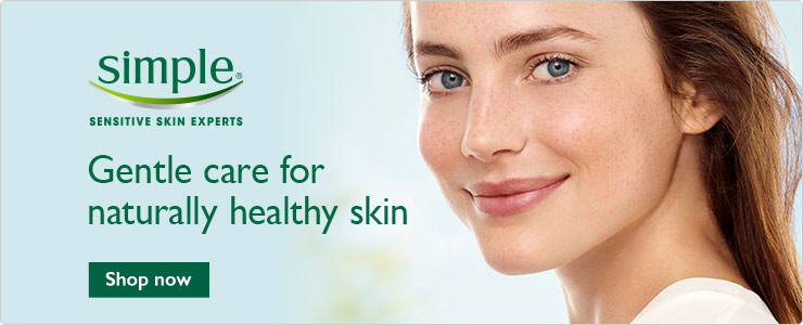 Discover the Simple facial skin care range