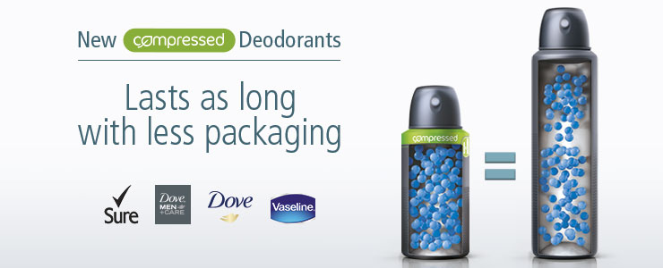 New Compressed Deodorants