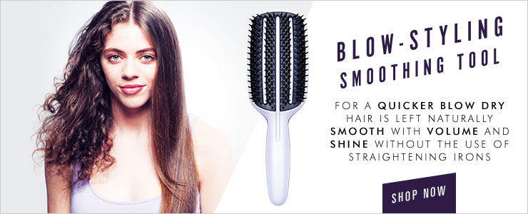 You'll be blown away by the results. Tangle Teezer blow drying brush
