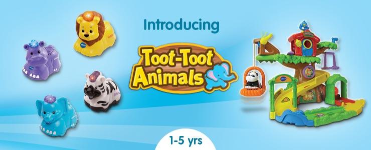 Vtech toot toot animals interactive play sets