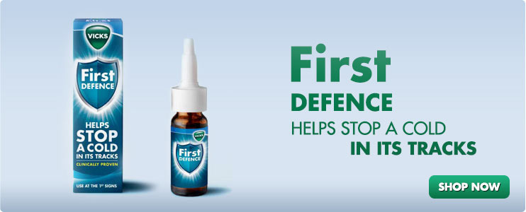 First Defence Helps stop a cold in its tracks