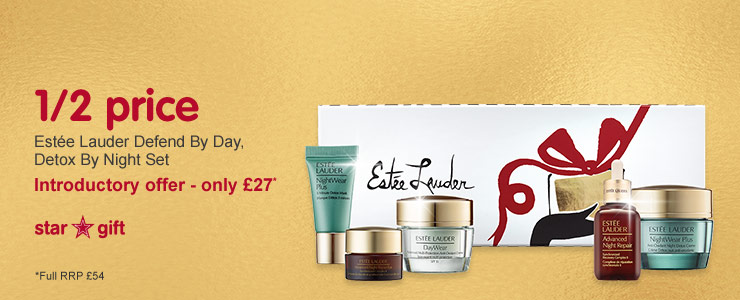 Star Gift - Estee Lauder Defend by Day, Detox by Night Set