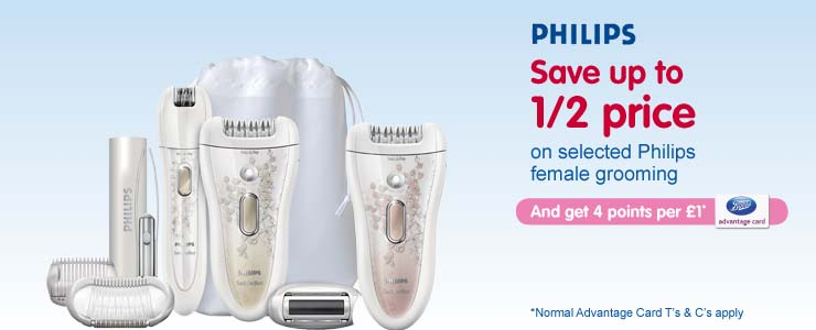Save up to 1/2 price on Philips Female Grooming