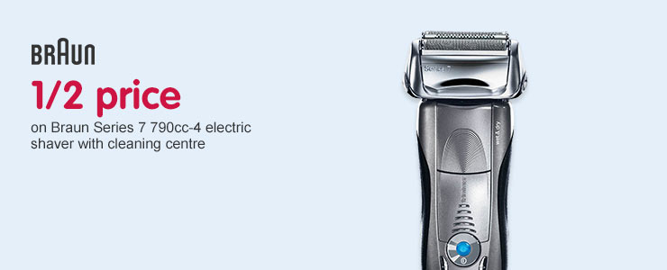 Half Price on Braun Series 7 790cc-4 Electric Shaver