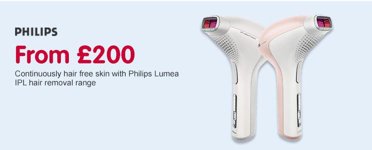 From £200 Philips Lumea IPL