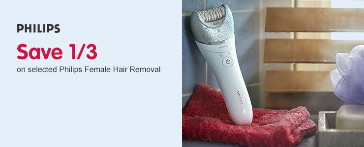 Save 1/3 on selected Philips Female Hair Removal