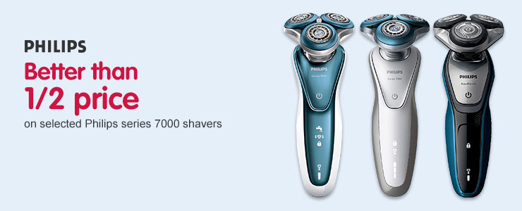 Better than half price on selected Philips series 7000 Shavers