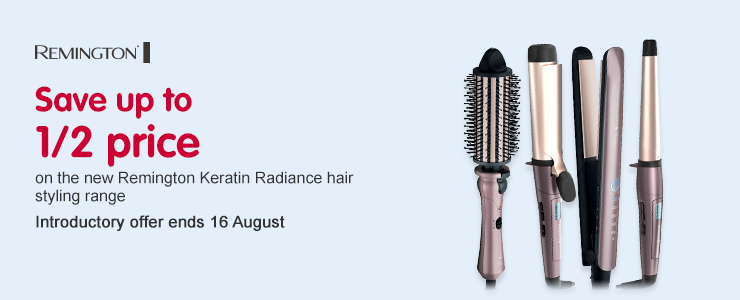New Remington Keratin Radiance SUTHP Intro Offer