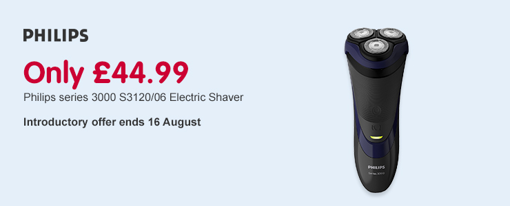 Only £44.99 on Philips series 3000 intro offer