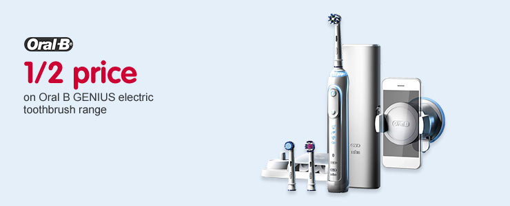 Half Price on selected Oral B GENIUS electric toothbrushes