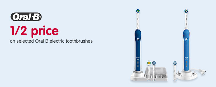 Half price on selected Oral B