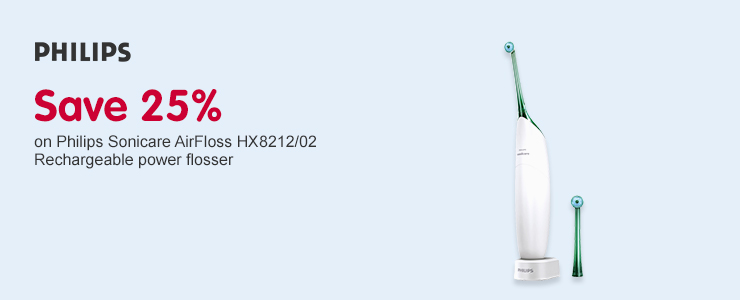 Save 40% Philips Sonicare Airfloss Green