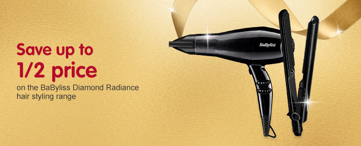 save up to 1/2 price on babyliss diamond radiance