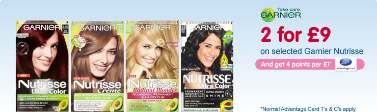 2 for �9 on selected Garnier