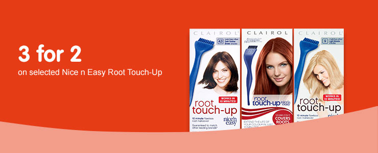 3 for 2 on selected root touch up