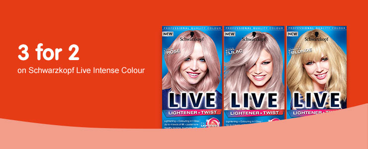 3 for 2 on selected Live colour