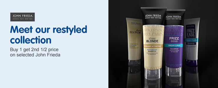 John Frieda  New is now. Meet our restyled collection.
