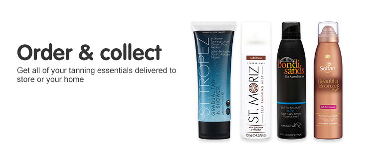 Order & collect your tanning essentials