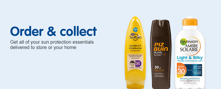Order & Collect on all of your favourite suncare essentials