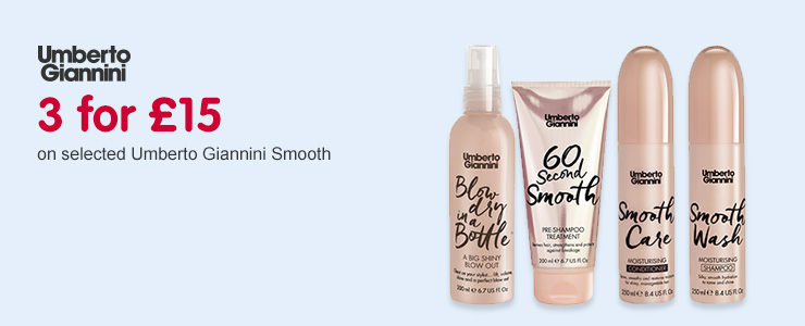 3 for £15 on new Umberto Giannini Smooth range