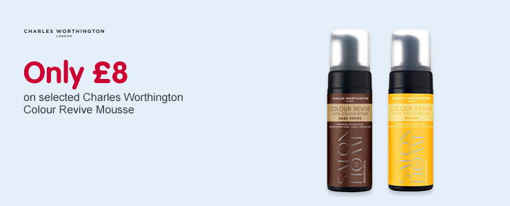 Only £8 on selected Charles Worthington Colour Revive Mousse