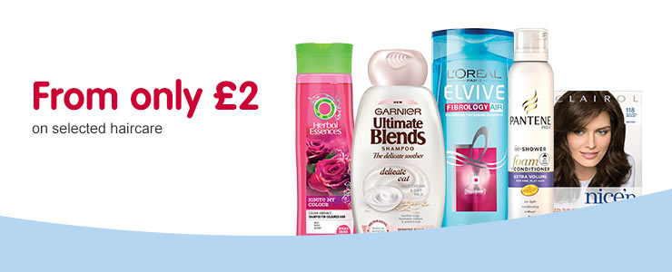 From only £2 on selected Haircare