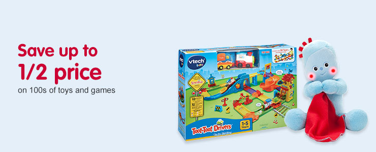 Half Price on selected Toys and Games