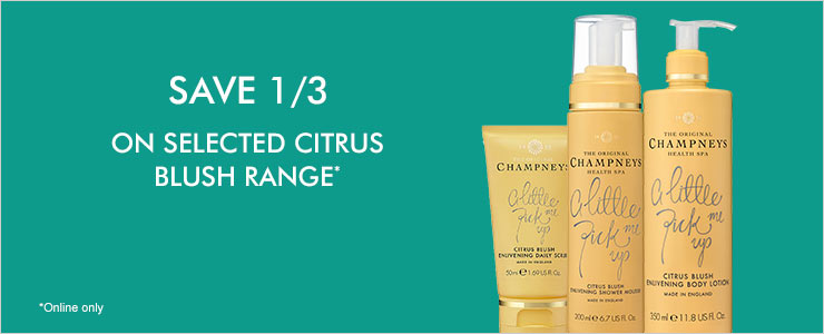 Save a third on selected citrus blush