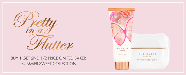 Buy one get second half price selected ted baker