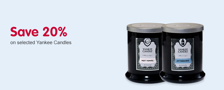 Save 20% selected Yankee Candles