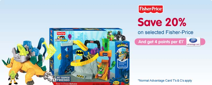 Save 20% on selected Fisher-Price