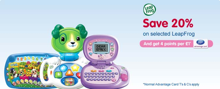 Save 20% on selected LeapFrog
