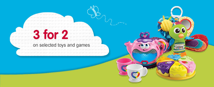 3 for 2 on selected toys and games