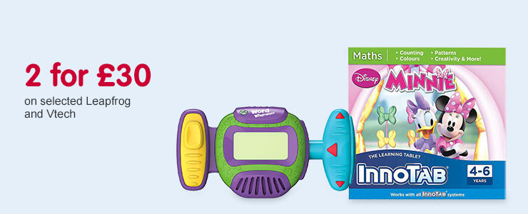 Two for £30 on selected Leapfrog and Vtech
